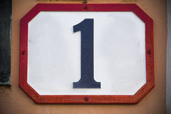 Número uno… fotografía de archivo
