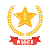 Número uno, estrella del oro stock de ilustración