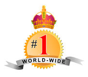 Número uno por todo el mundo ilustración del vector