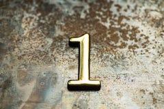 Número uno que pone letras Imagen de archivo