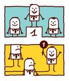 Número uno y dirección ilustración del vector