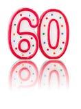 Número vermelho 60 Fotografia de Stock