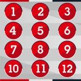Número vermelho do círculo Fotos de Stock