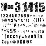 Número y símbolo - 2 de Grunge Fotografía de archivo