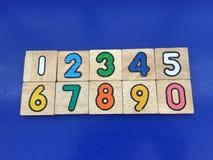 Número 0-9 y x28; 2& x29; Fotografía de archivo