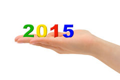 Números 2015 à disposição Fotografia de Stock Royalty Free