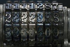 Números foto de archivo libre de regalías