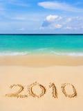 Números 2010 na praia Fotos de Stock