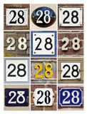 Números 28 imagen de archivo