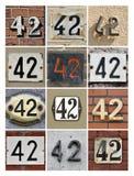 Números 42 foto de archivo libre de regalías