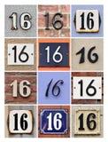 Números 16 imagens de stock royalty free