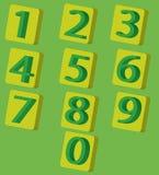 números 3D Imagens de Stock Royalty Free