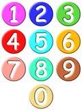 números 3D cómicos Fotos de Stock