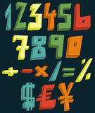 Números 3d coloridos Fotografia de Stock Royalty Free