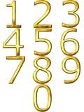 números 3D dourados ilustração royalty free
