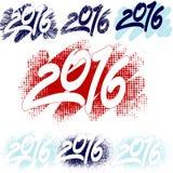 Números 2016 Imagen de archivo libre de regalías