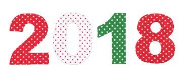 2018 números Imagens de Stock Royalty Free