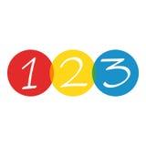 Números 123 stock de ilustración