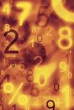 Números abstractos Imagen de archivo libre de regalías