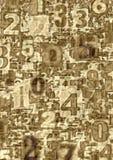 Números abstractos Fotografía de archivo libre de regalías