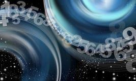 Números abstractos del cielo del fondo Imágenes de archivo libres de regalías
