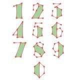Números abstractos hechos de líneas conectadas puntos Imagenes de archivo