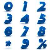 Números ajustados Imagens de Stock