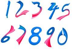 Números ajustados Imagens de Stock Royalty Free