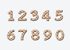 Números ajustados na ilustração, número abstrato Fotos de Stock