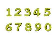 Números ajustados na ilustração, número abstrato Imagem de Stock