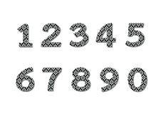 Números ajustados na ilustração, número abstrato Imagem de Stock Royalty Free