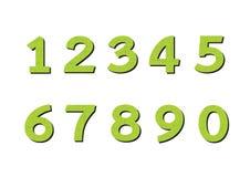 Números ajustados na ilustração, número abstrato Fotos de Stock Royalty Free