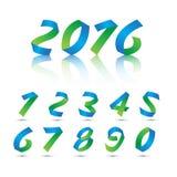 Números ajustados Vetor Imagem de Stock Royalty Free