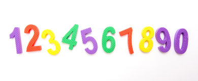 Números alineados Fotografía de archivo