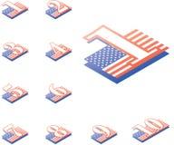 Números americanos del estilo. Imagenes de archivo