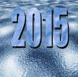 Números, ano novo 2015, com uma neve-queda Fotos de Stock Royalty Free