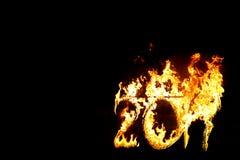 Números ardientes 2017, como el símbolo del final del año Fotos de archivo