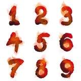 Números ardientes ingleses Imagen de archivo libre de regalías