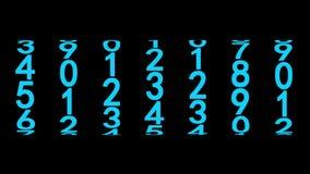 Números azules del contador ilustración del vector