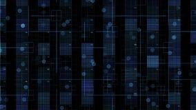 Números azules que mueven encendido el fondo negro ilustración del vector