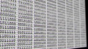 Números binários pretos contra uma tela branca ilustração stock