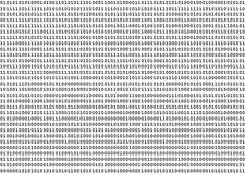 Números binarios Foto de archivo