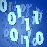 Números binarios stock de ilustración