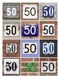 Números cincuenta imagen de archivo libre de regalías