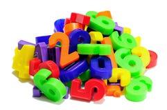 Números coloreados Foto de archivo libre de regalías