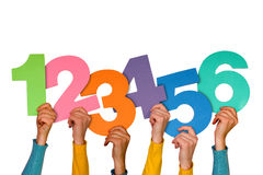 Números coloridos Foto de Stock Royalty Free