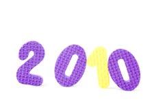 Números coloridos con 2010 Fotografía de archivo libre de regalías