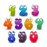 Números coloridos criançolas cômicos ajustados Foto de Stock