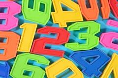 Números coloridos 123 del plástico Imagen de archivo libre de regalías
