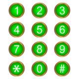 Números coloridos del vector Imagen de archivo